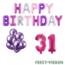 Feest-vieren 31 jaar Verjaardag Versiering Ballon Pakket Pastel & Roze
