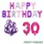 Feest-vieren 30 jaar Verjaardag Versiering Ballon Pakket Pastel & Roze