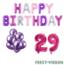 Feest-vieren 29 jaar Verjaardag Versiering Ballon Pakket Pastel & Roze