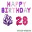 Feest-vieren 28 jaar Verjaardag Versiering Ballon Pakket Pastel & Roze