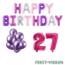 Feest-vieren 27 jaar Verjaardag Versiering Ballon Pakket Pastel & Roze