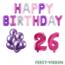 Feest-vieren 26 jaar Verjaardag Versiering Ballon Pakket Pastel & Roze
