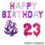 Feest-vieren 23 jaar Verjaardag Versiering Ballon Pakket Pastel & Roze