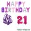 Feest-vieren 21 jaar Verjaardag Versiering Ballon Pakket Pastel & Roze