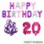 Feest-vieren 20 jaar Verjaardag Versiering Ballon Pakket Pastel & Roze