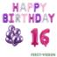 Feest-vieren 16 jaar Verjaardag Versiering Ballon Pakket Pastel & Roze