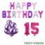 Feest-vieren 15 jaar Verjaardag Versiering Ballon Pakket Pastel & Roze