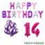 Feest-vieren 14 jaar Verjaardag Versiering Ballon Pakket Pastel & Roze