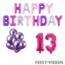 Feest-vieren 13 jaar Verjaardag Versiering Ballon Pakket Pastel & Roze