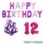 Feest-vieren 12 jaar Verjaardag Versiering Ballon Pakket Pastel & Roze