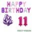 Feest-vieren 11 jaar Verjaardag Versiering Ballon Pakket Pastel & Roze