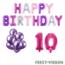 Feest-vieren 10 jaar Verjaardag Versiering Ballon Pakket Pastel & Roze