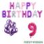 Feest-vieren 9 jaar Verjaardag Versiering Ballon Pakket Pastel & Roze