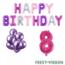 Feest-vieren 8 jaar Verjaardag Versiering Ballon Pakket Pastel & Roze
