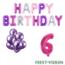 Feest-vieren 6 jaar Verjaardag Versiering Ballon Pakket Pastel & Roze