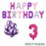 Feest-vieren 3 jaar Verjaardag Versiering Ballon Pakket Pastel & Roze