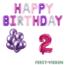 Feest-vieren 2 jaar Verjaardag Versiering Ballon Pakket Pastel & Roze