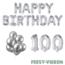 Feest-vieren 100 jaar Verjaardag Versiering Ballon Pakket zilver