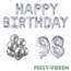 Feest-vieren 98 jaar Verjaardag Versiering Ballon Pakket zilver