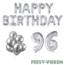 Feest-vieren 96 jaar Verjaardag Versiering Ballon Pakket zilver