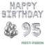 Feest-vieren 95 jaar Verjaardag Versiering Ballon Pakket zilver