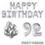 Feest-vieren 92 jaar Verjaardag Versiering Ballon Pakket zilver