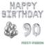 Feest-vieren 90 jaar Verjaardag Versiering Ballon Pakket zilver