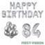 Feest-vieren 84 jaar Verjaardag Versiering Ballon Pakket zilver