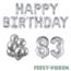 Feest-vieren 83 jaar Verjaardag Versiering Ballon Pakket zilver