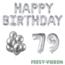 Feest-vieren 79 jaar Verjaardag Versiering Ballon Pakket zilver
