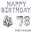 Feest-vieren 78 jaar Verjaardag Versiering Ballon Pakket zilver