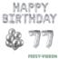 Feest-vieren 77 jaar Verjaardag Versiering Ballon Pakket zilver