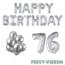 Feest-vieren 76 jaar Verjaardag Versiering Ballon Pakket zilver