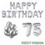 Feest-vieren 75 jaar Verjaardag Versiering Ballon Pakket zilver