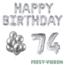 Feest-vieren 74 jaar Verjaardag Versiering Ballon Pakket zilver