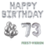 Feest-vieren 73 jaar Verjaardag Versiering Ballon Pakket zilver