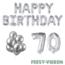 Feest-vieren 70 jaar Verjaardag Versiering Ballon Pakket zilver