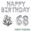 Feest-vieren 68 jaar Verjaardag Versiering Ballon Pakket zilver
