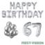 Feest-vieren 67 jaar Verjaardag Versiering Ballon Pakket zilver