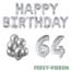 Feest-vieren 64 jaar Verjaardag Versiering Ballon Pakket zilver