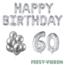 Feest-vieren 60 jaar Verjaardag Versiering Ballon Pakket zilver