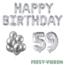 Feest-vieren 59 jaar Verjaardag Versiering Ballon Pakket zilver
