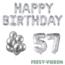 Feest-vieren 57 jaar Verjaardag Versiering Ballon Pakket zilver