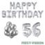 Feest-vieren 56 jaar Verjaardag Versiering Ballon Pakket zilver
