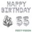 Feest-vieren 55 jaar Verjaardag Versiering Ballon Pakket zilver