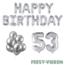 Feest-vieren 53 jaar Verjaardag Versiering Ballon Pakket zilver
