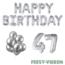 Feest-vieren 47 jaar Verjaardag Versiering Ballon Pakket zilver