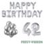 Feest-vieren 42 jaar Verjaardag Versiering Ballon Pakket zilver