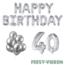 Feest-vieren 40 jaar Verjaardag Versiering Ballon Pakket zilver