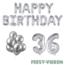 Feest-vieren 36 jaar Verjaardag Versiering Ballon Pakket zilver